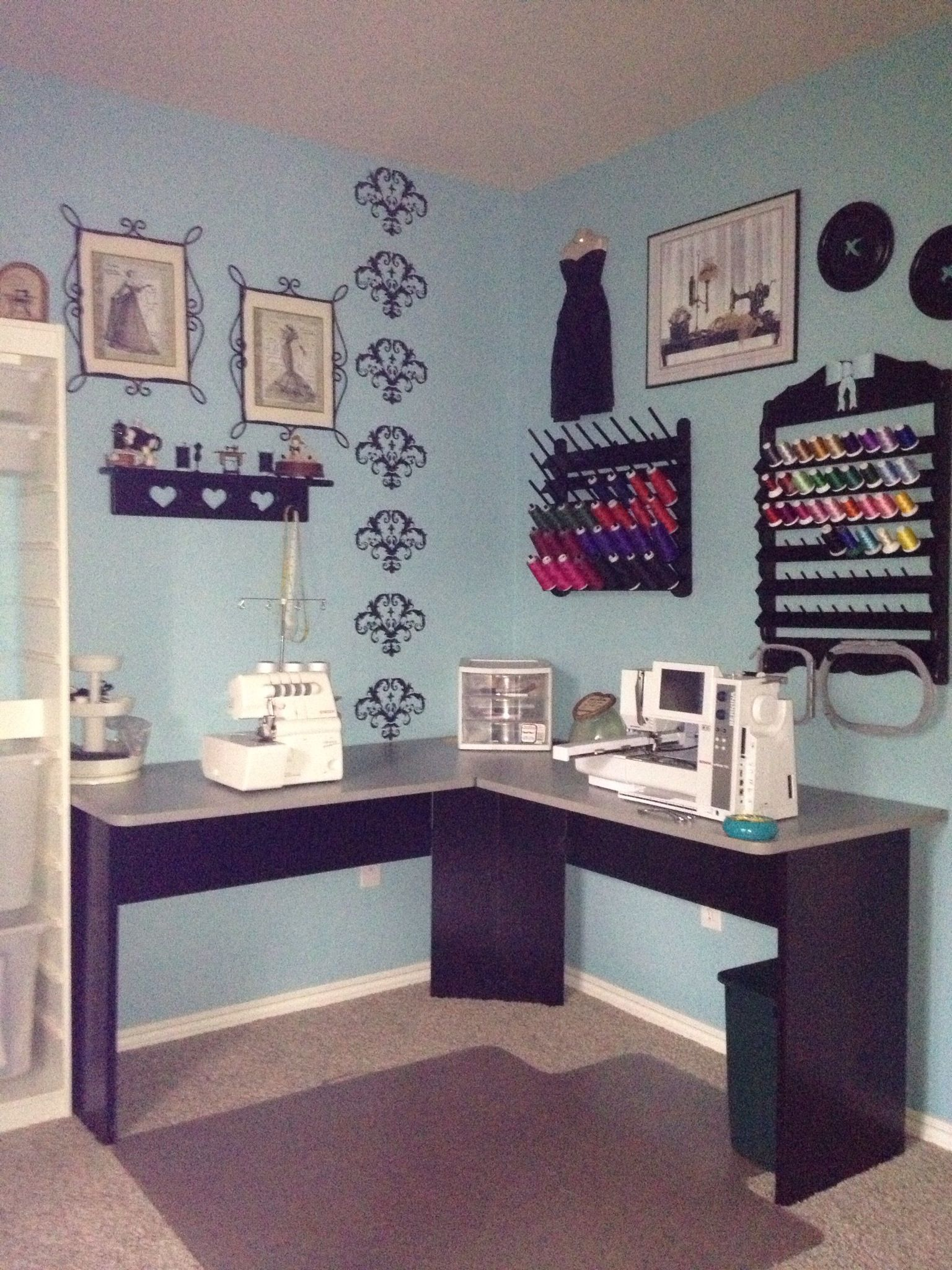 Sewing room makeover for the home pinterest for Furniture you put together