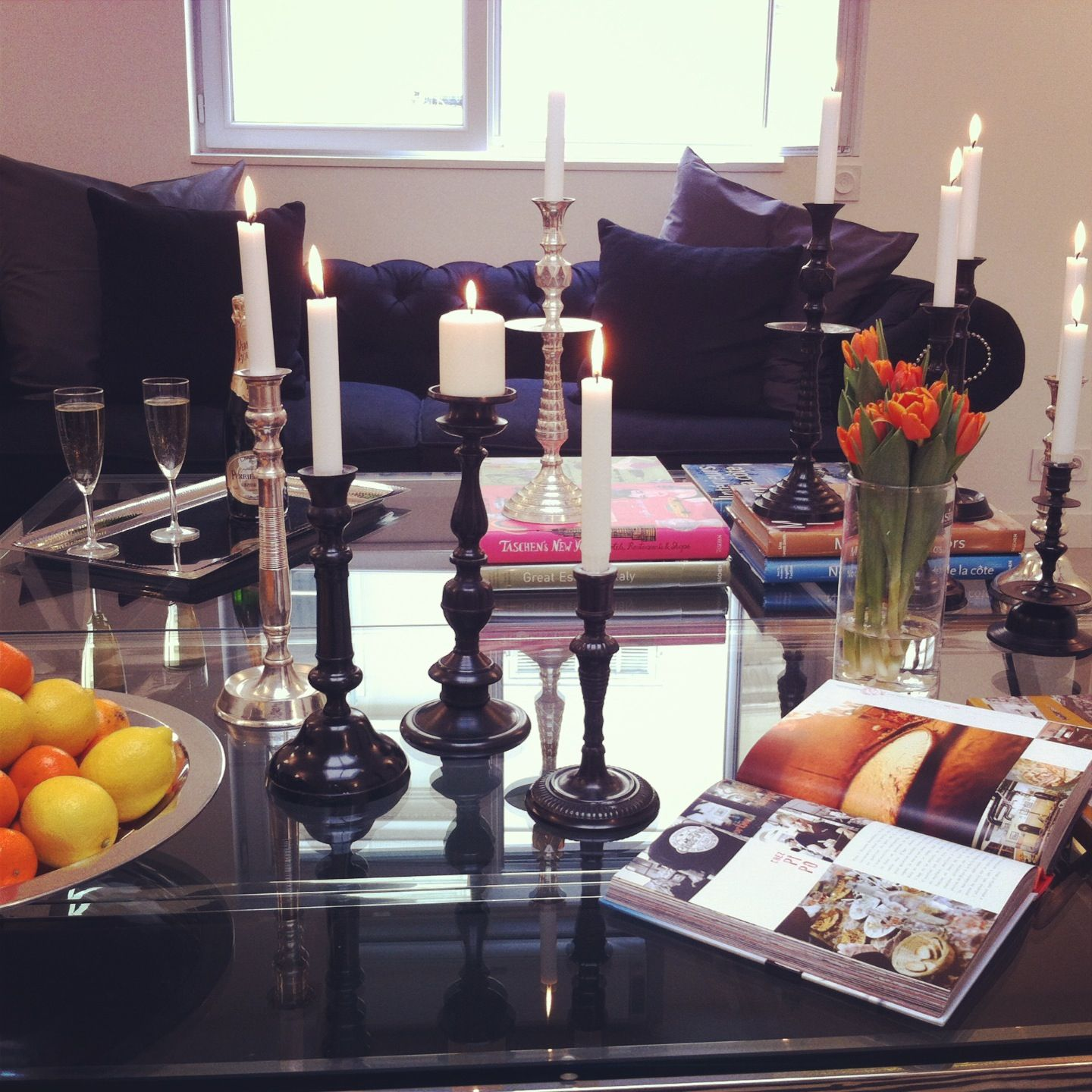 coffee table candles decor pinterest
