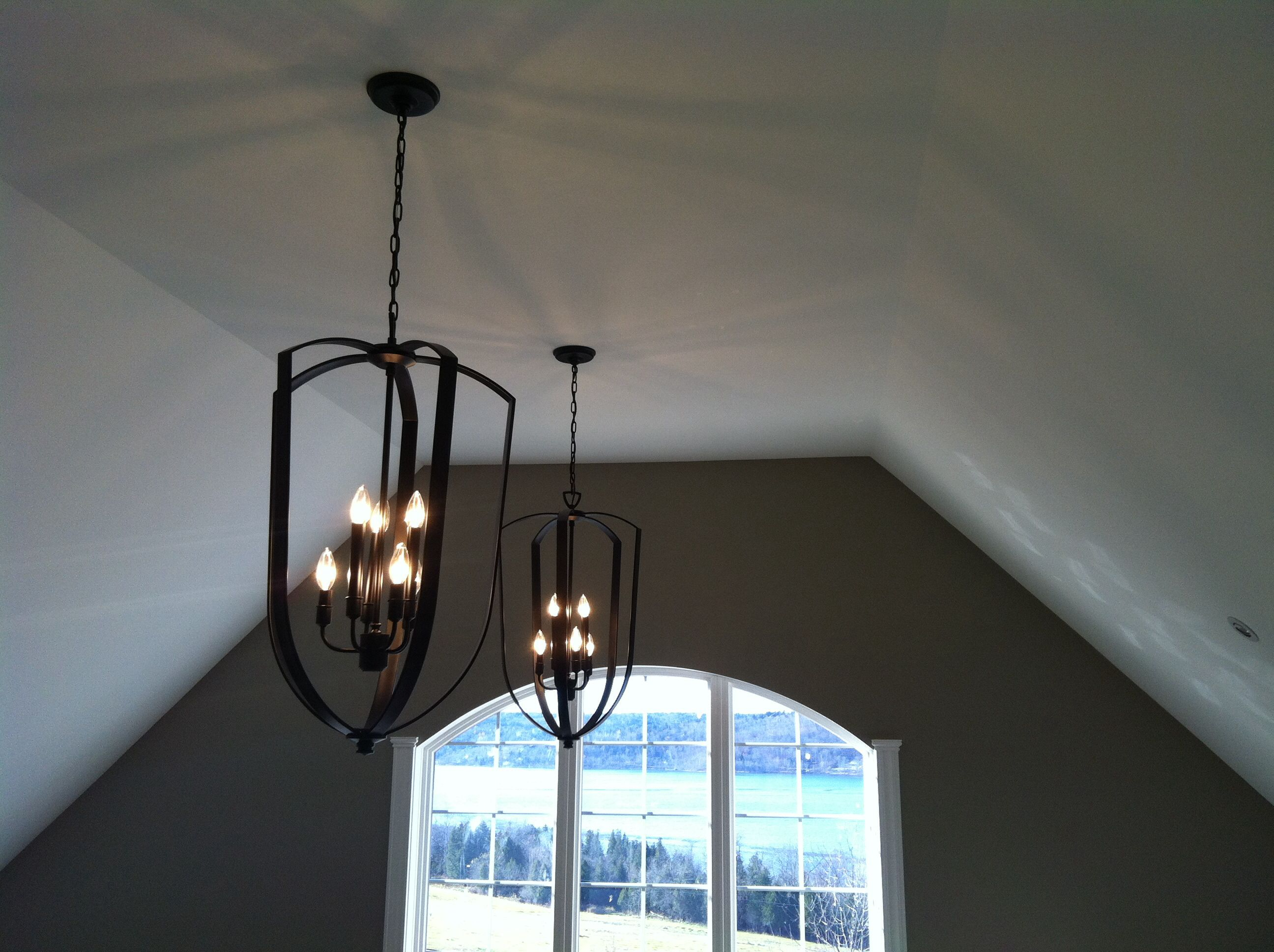 Cathedral ceiling light fixtures economical home lighting for Vaulted ceiling lighting solutions