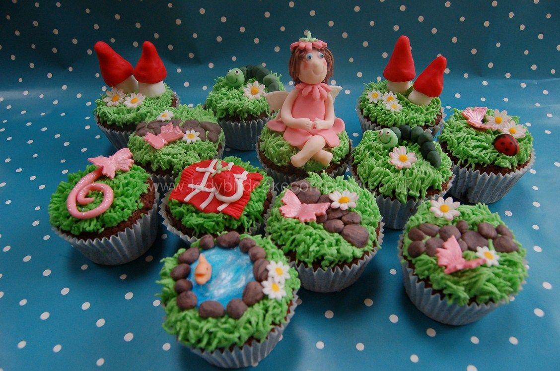 Fairy garden cupcakes cake ideas pinterest for How to make fairy cupcakes