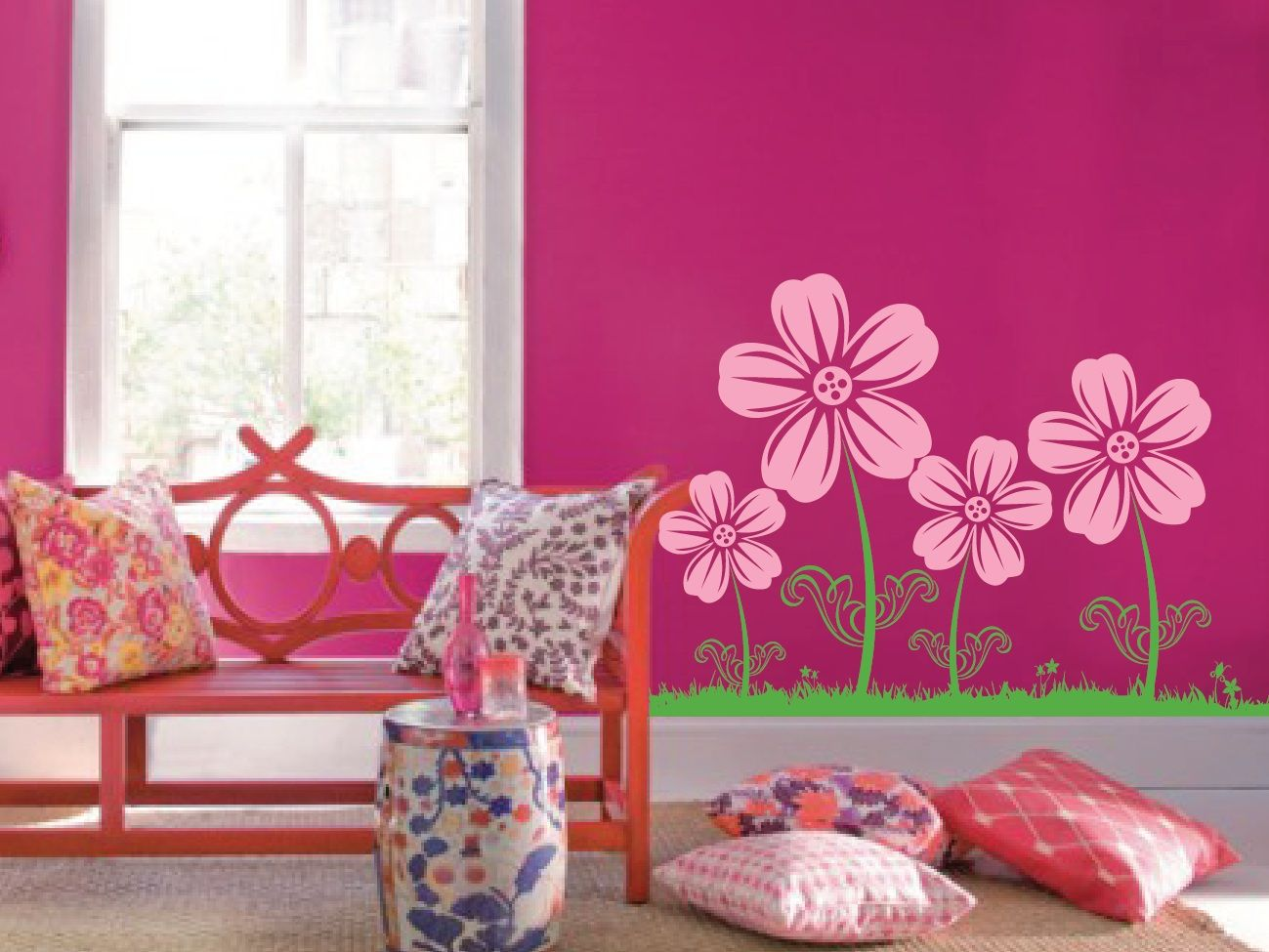 Floral girly bedroom