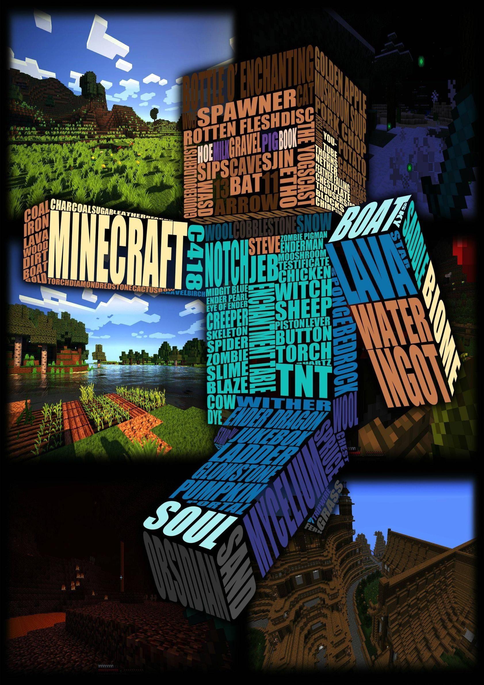 Minecraft Poster Boys And Girls Room Ideas Pinterest