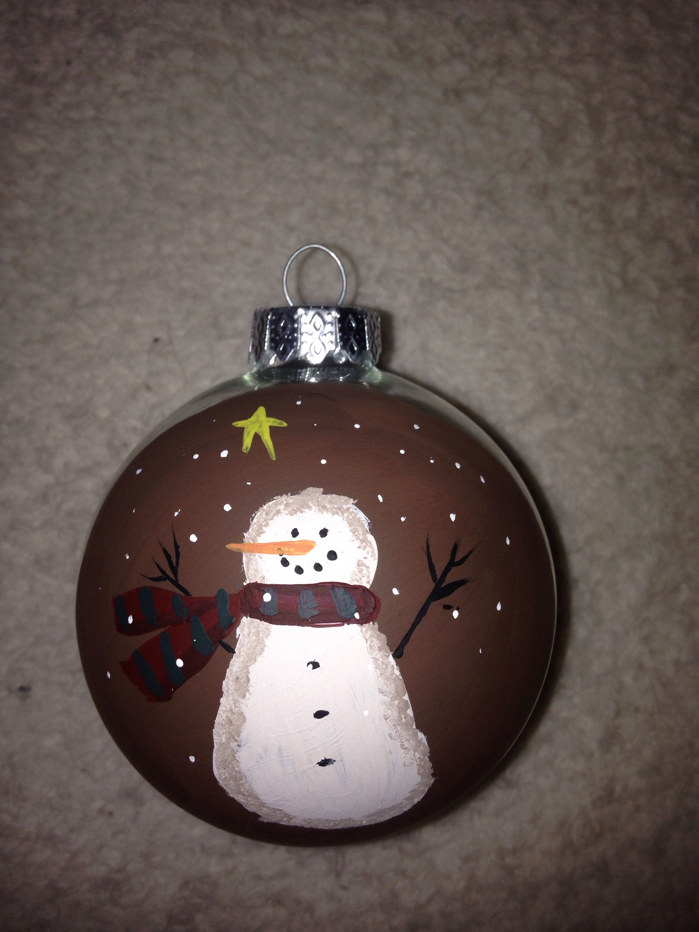 Hand painted christmas ornaments pintrest