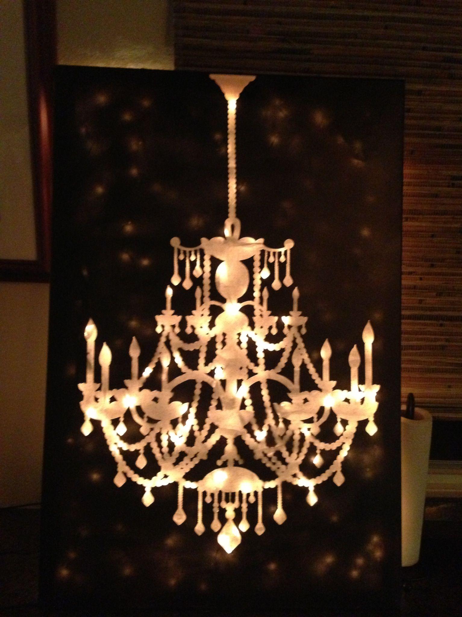 Chandelier canvas light art crafty