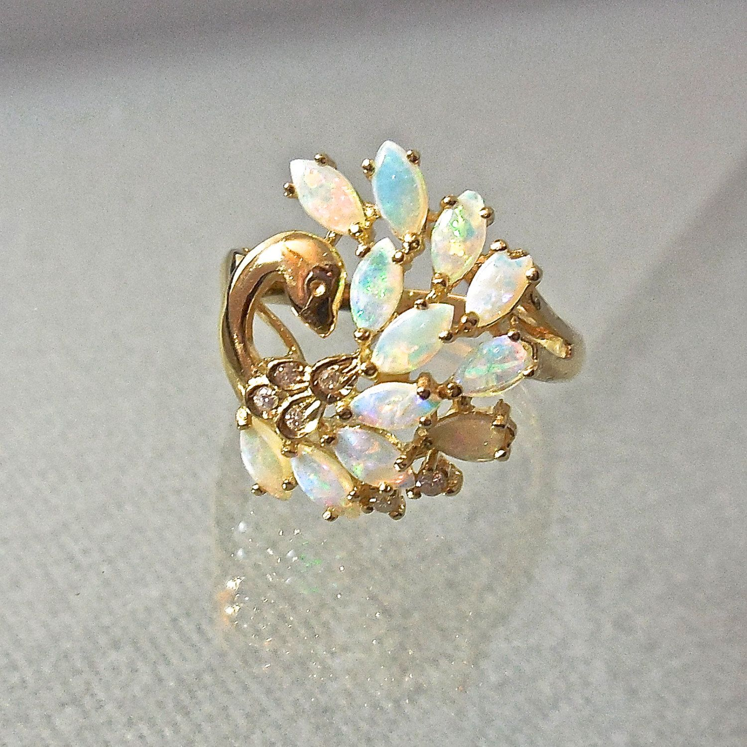"antique opal ring ""Antique Rings"" Real Bling"