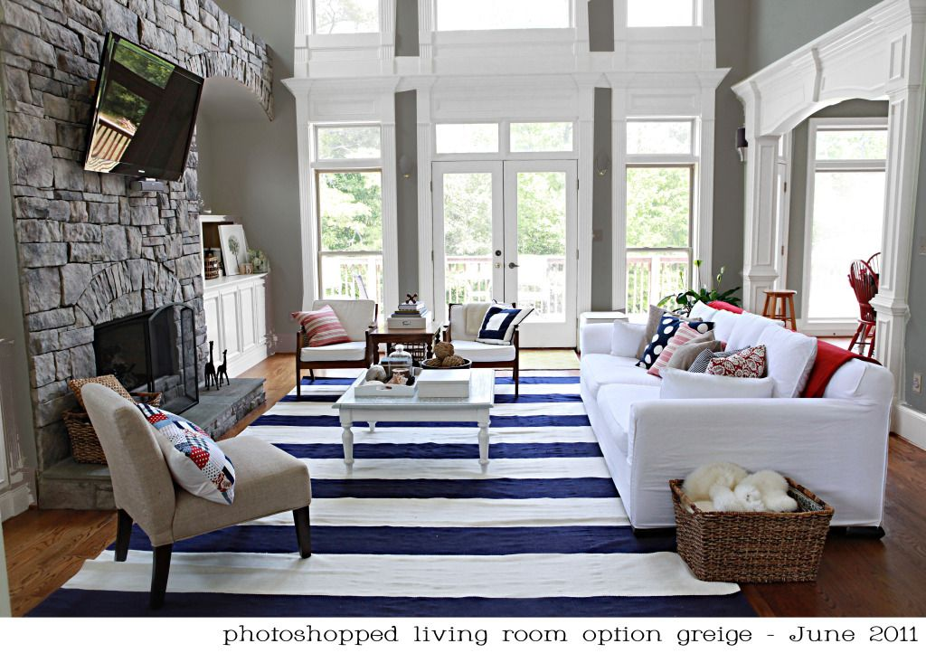 Love this striped rug living rooms pinterest
