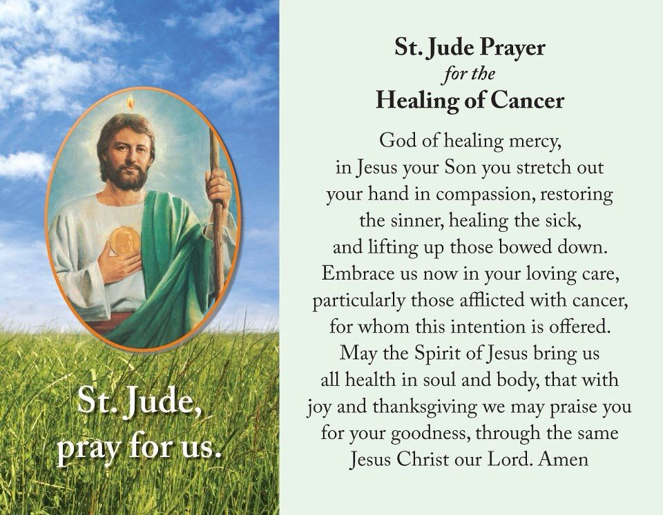 St jude prayer for the healing of cancer pope francis rom catholic