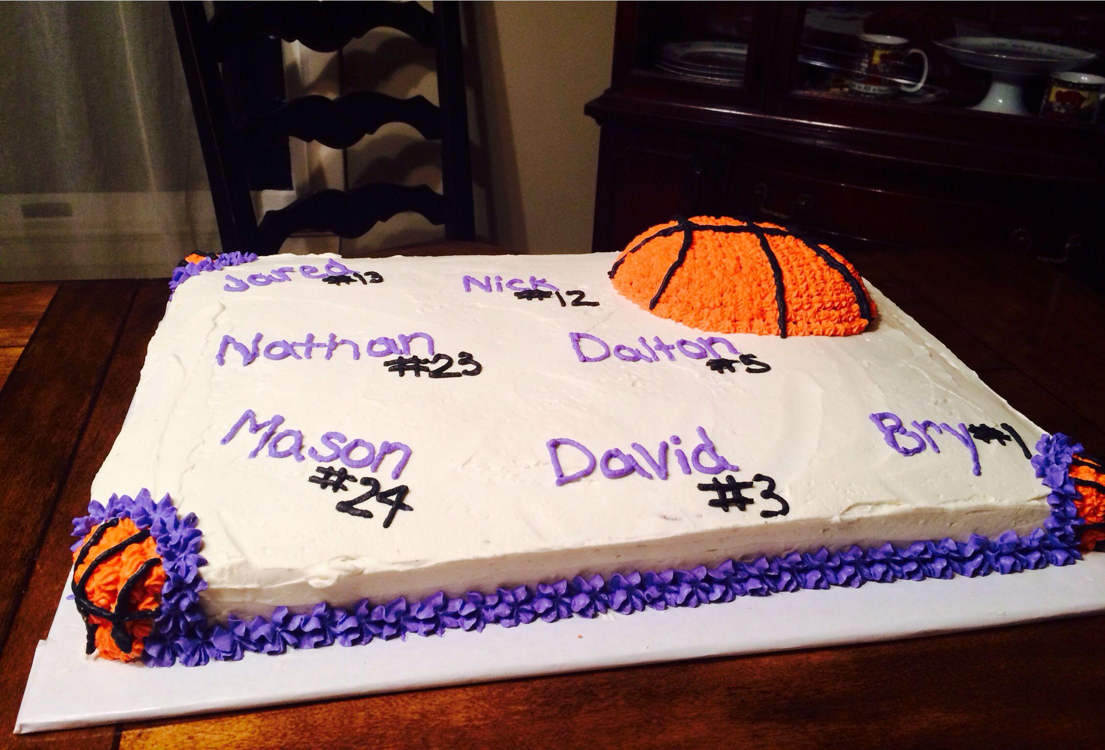 Cupcake Decorating Ideas For Seniors : Pin Basketball Senior Night Locker Decorations Cake on ...