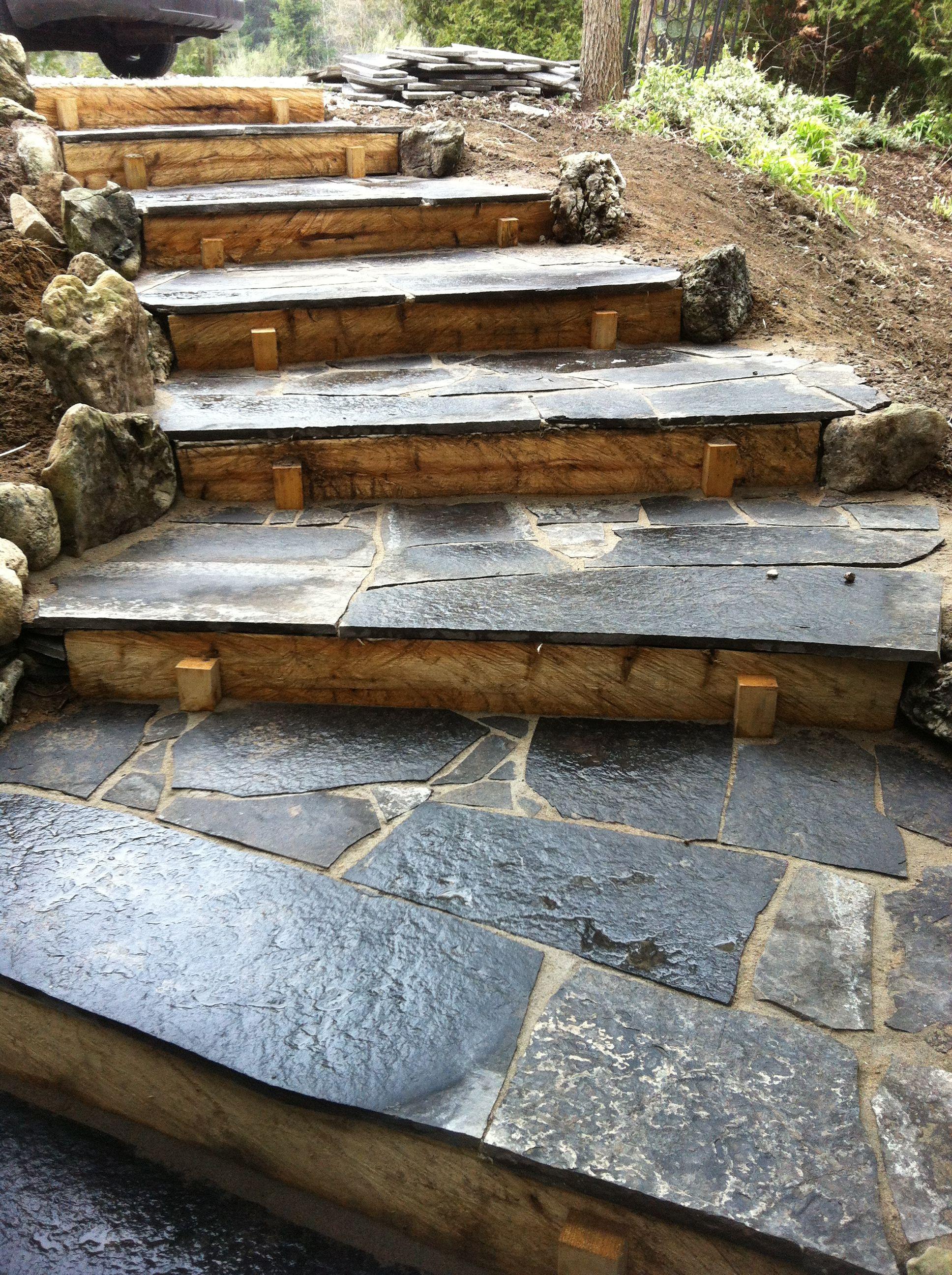 Flagstone Steps For The Home Pinterest