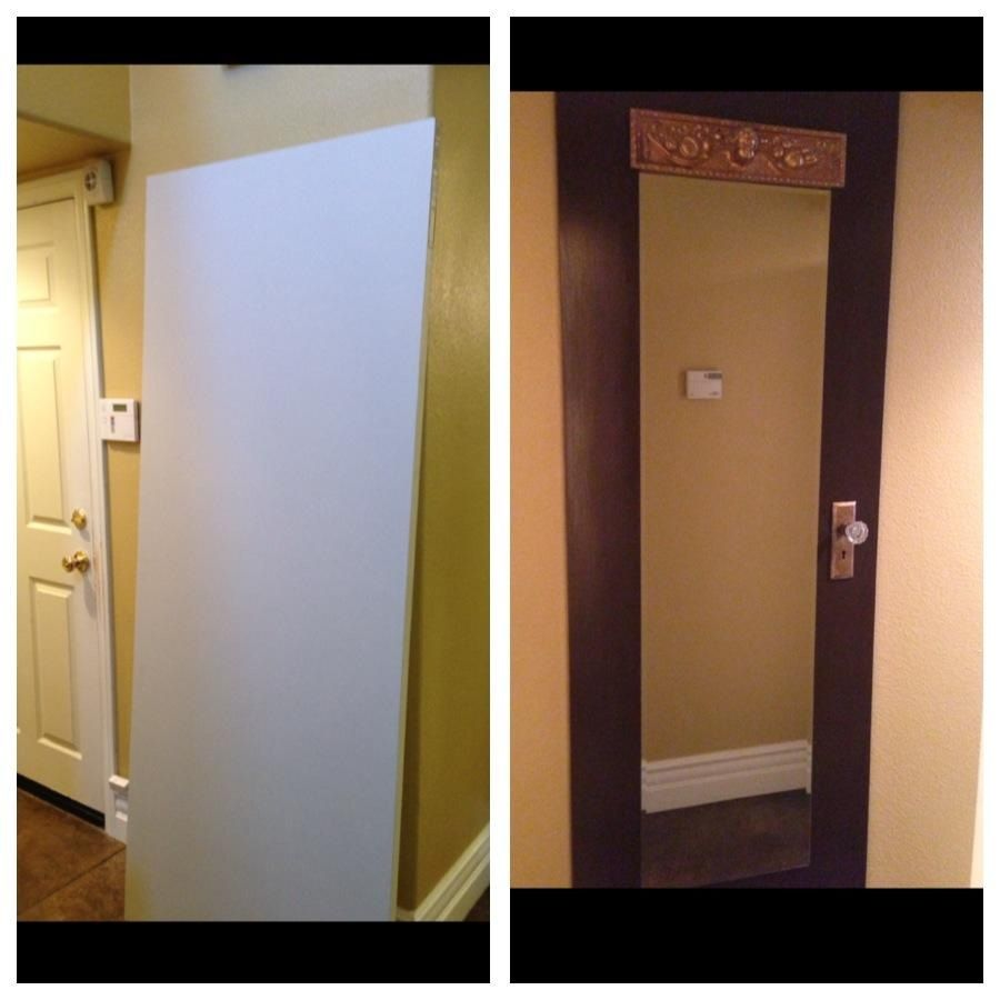 before and after mirror door diy furniture and accessories on the. Black Bedroom Furniture Sets. Home Design Ideas