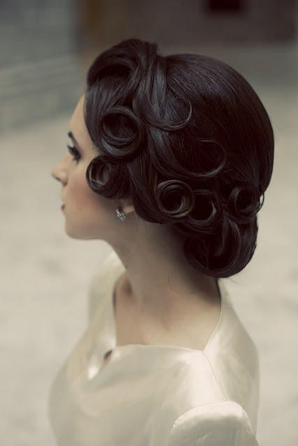 Vintage Pin Curl Updo Wedding Ideas Pinterest