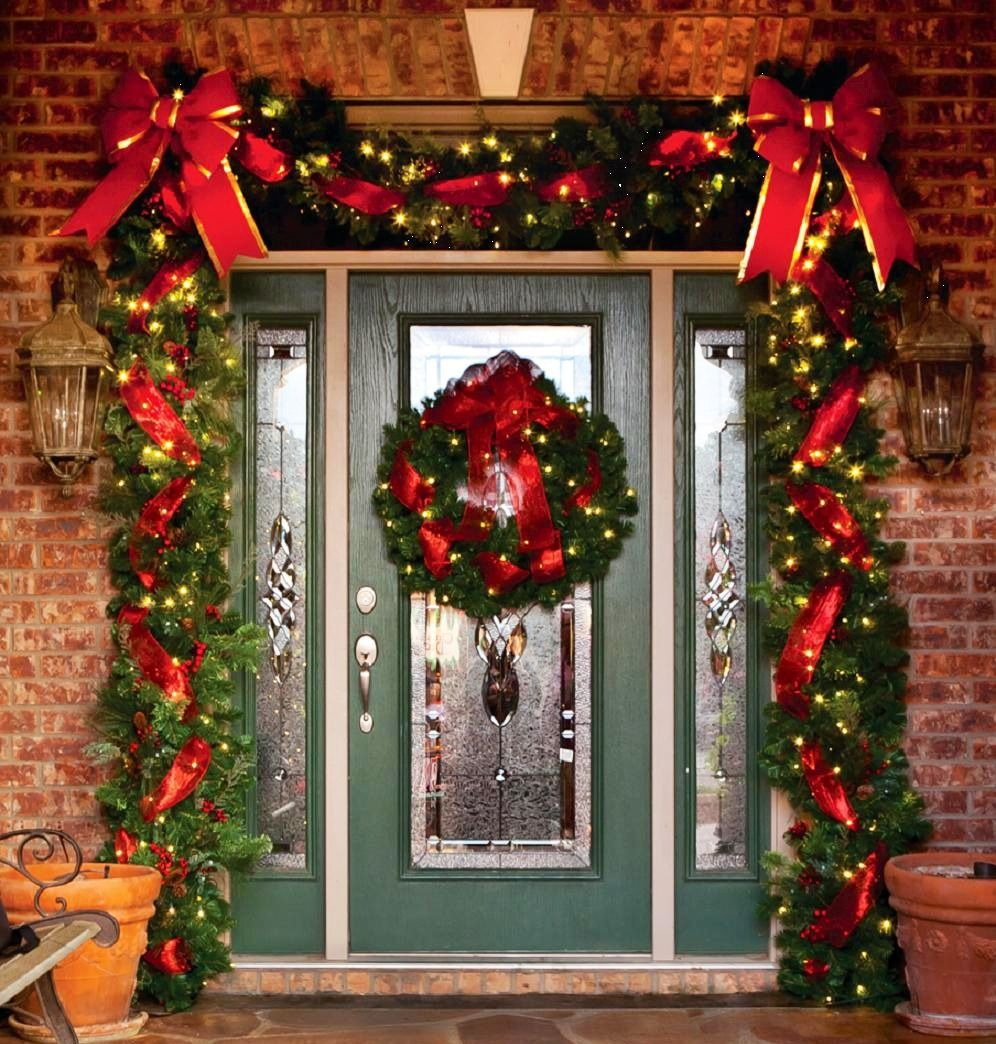 Christmas garland door christmas pinterest for Door garland christmas