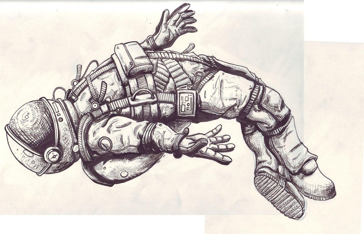 astronaut trippy drawing ideas - photo #34