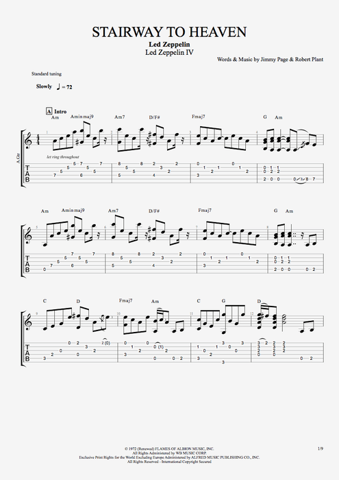 STAIRWAY TO HEAVEN Chords Led Zeppelin EChords - oukas.info