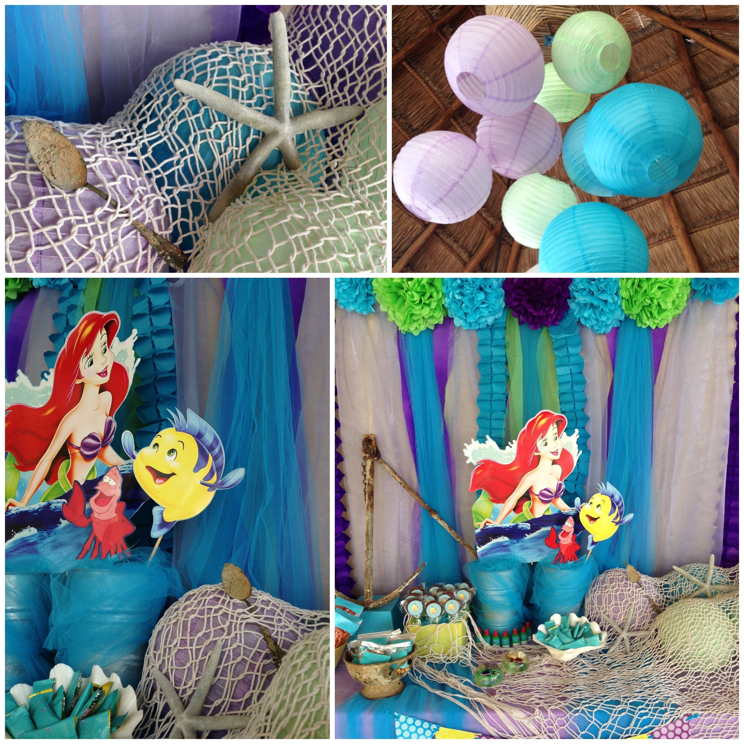 Little mermaid party party decorations pinterest for Ariel decoration party