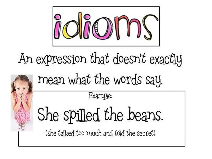 idioms and meanings for kids - photo #10