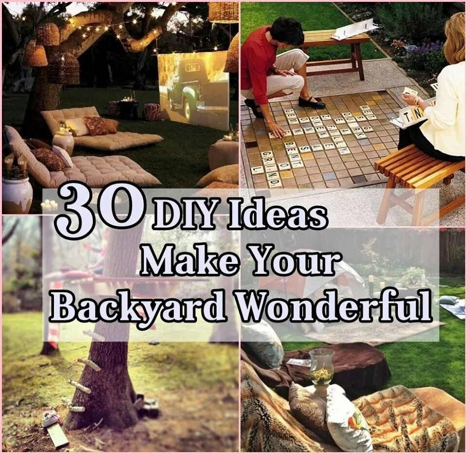 Backyard Projects Cool Ideas Pinterest