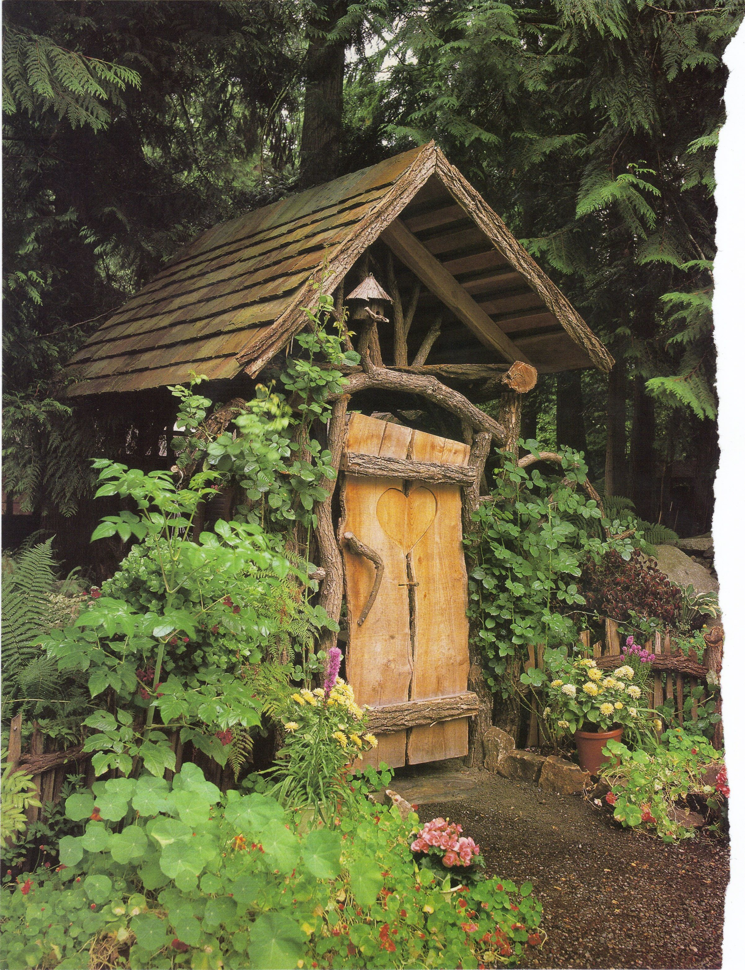 Rustic Garden Entrance Log Homes Pinterest