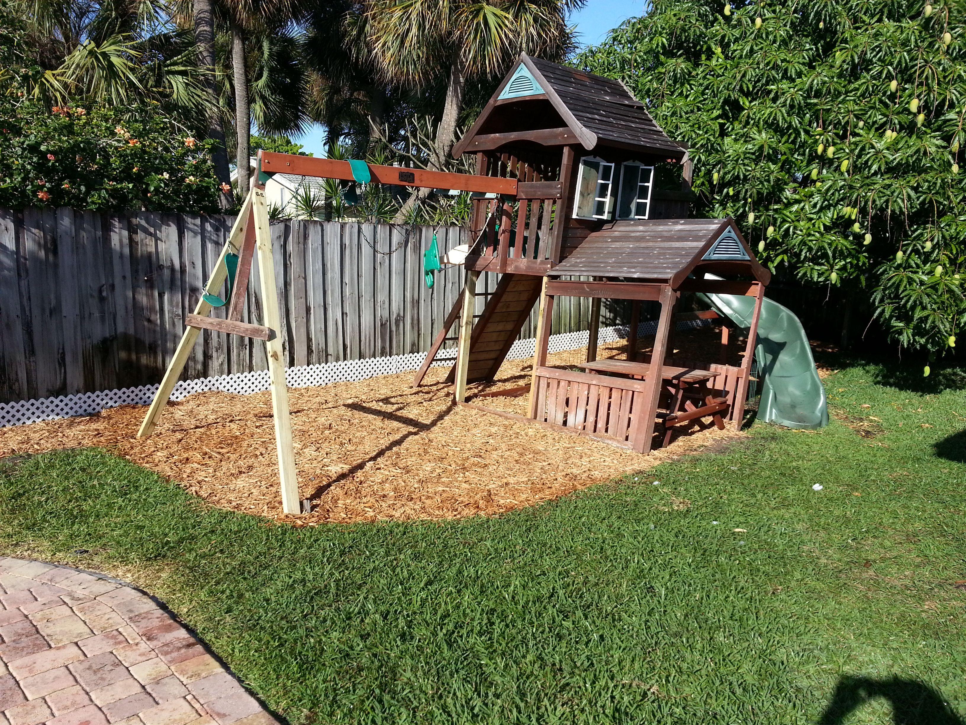 Backyard Playground Ground Cover : Backyard+Playground Backyard playground  Community Beautification