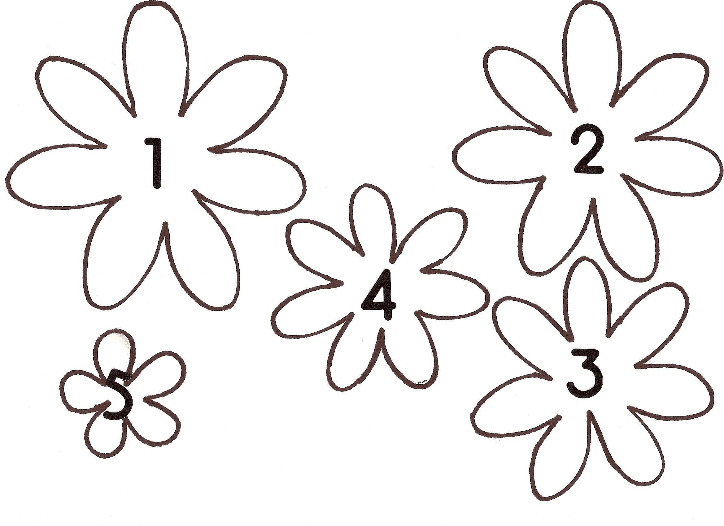 Шаблоны цветы из бумаги своими руками