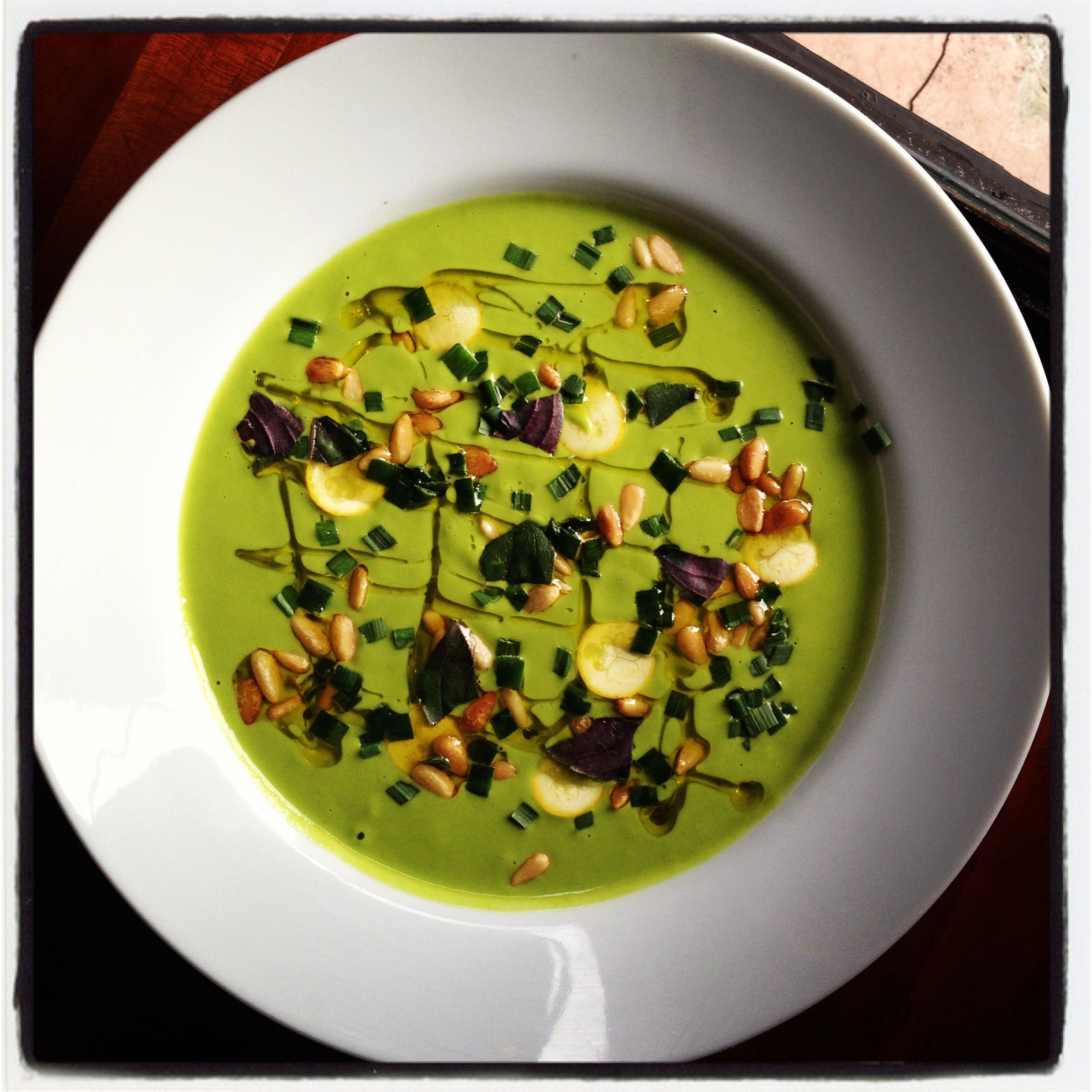 Chilled Zucchini Soup | hot weather soup | Pinterest