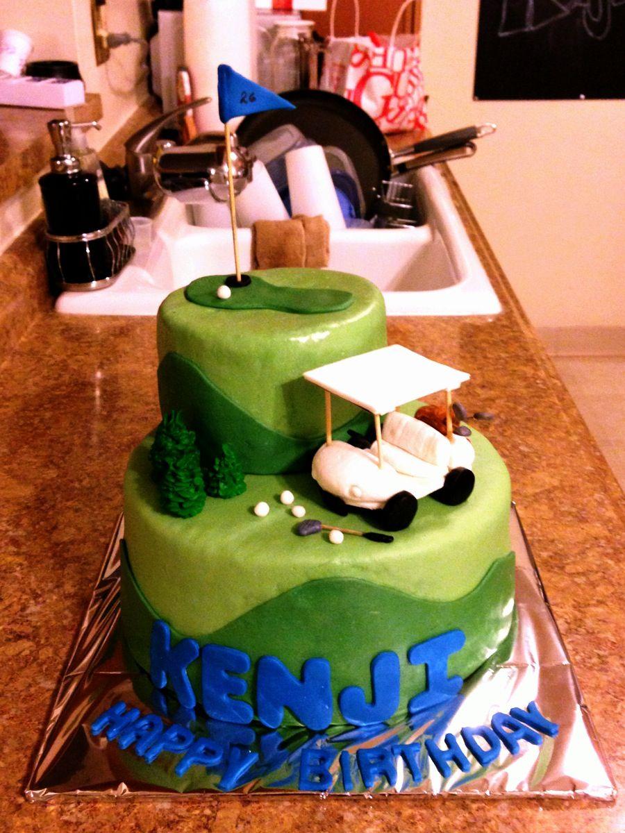 Mini golf course cake!!  My stuff, DiY & ideaS  Pinterest