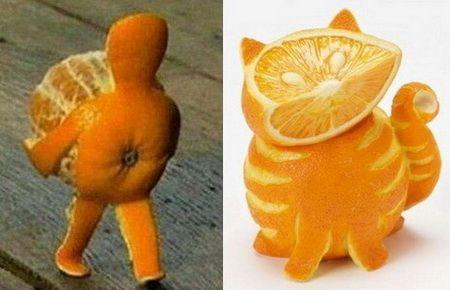 Фото поделки из апельсина