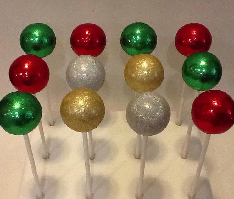 Christmas Cake Pops Pop Cakes Pinterest