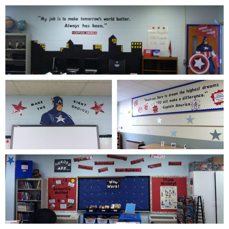 captain america theme classroom pinterest. Black Bedroom Furniture Sets. Home Design Ideas