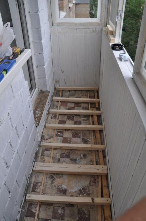 Ремонт на балконе своими руками хрущевка