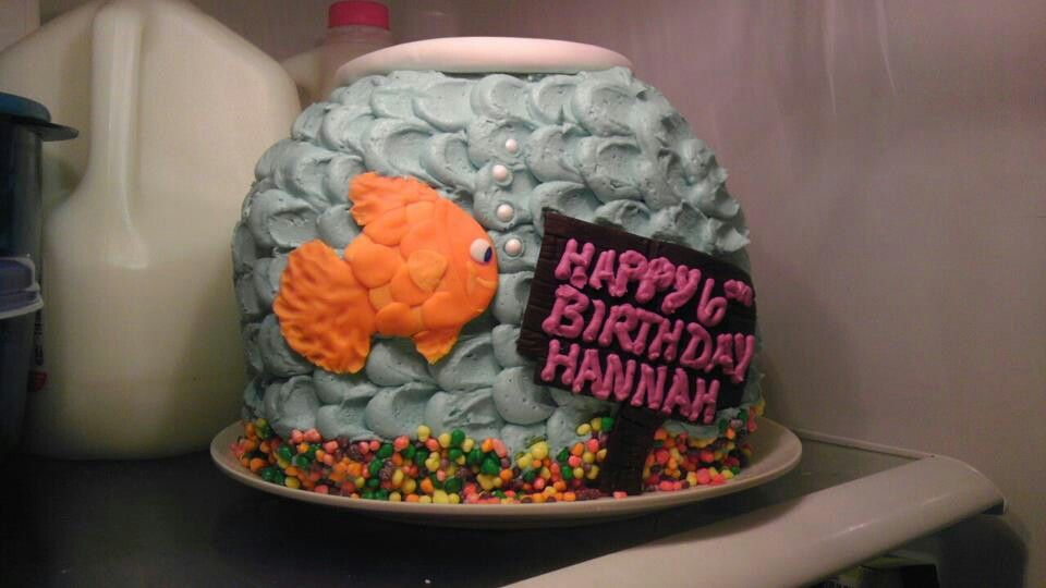 Pinterest cake decorating ideas fishing 30753 fish tank ca for Fish tank cake designs