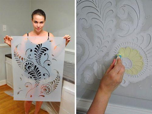 Как сделать объёмным рисунок на стене