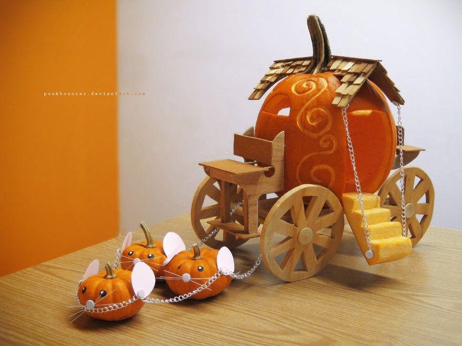 Pumpkin coach halloween pinterest for Fairytale pumpkin carving ideas