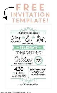 Free Printable Invitation Templates – printable calendar