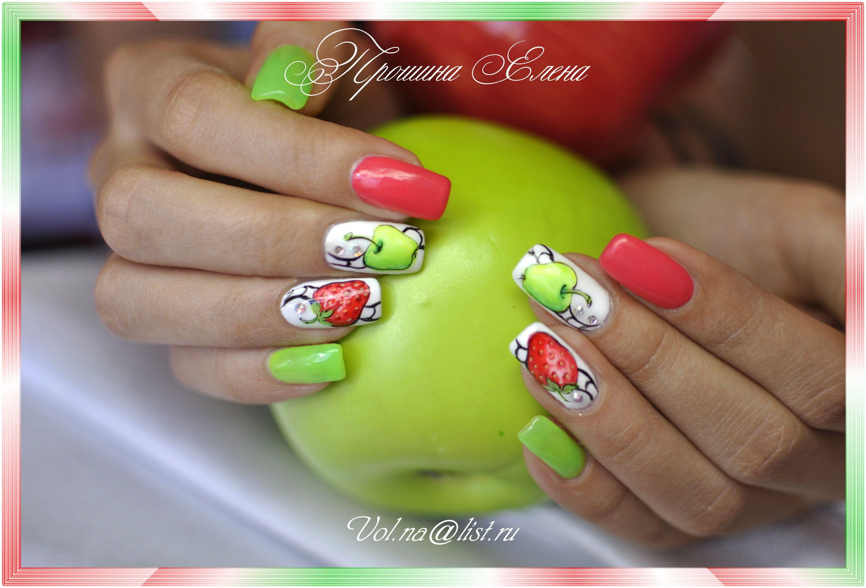 Дизайн ногтей шеллак фрукты
