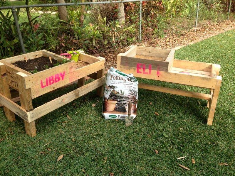 Raised Garden Bed Pallet Diy Crafts Pinterest