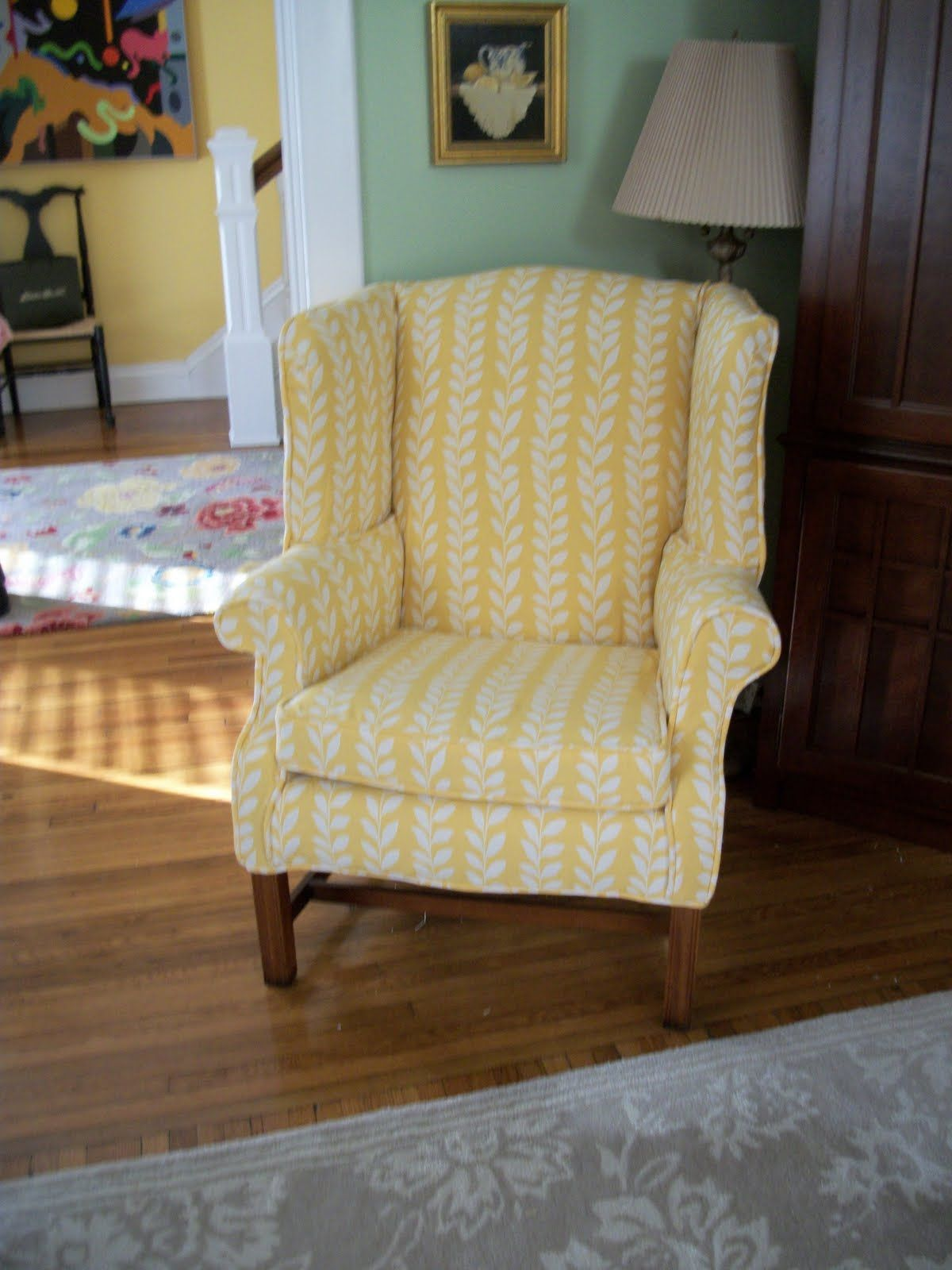 wing chair custom made slipcovers by betty favors