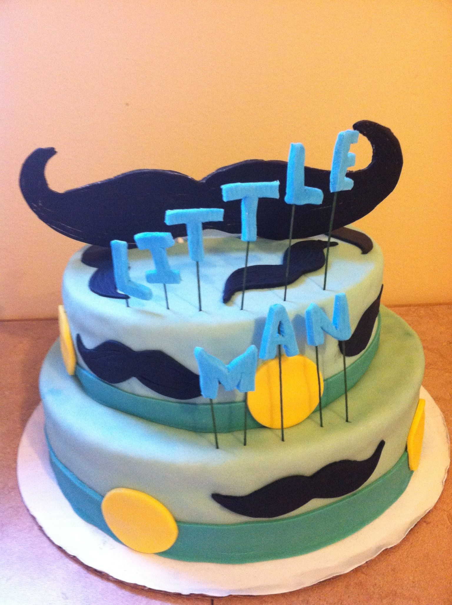 mustache baby shower cake fun with fondant pinterest