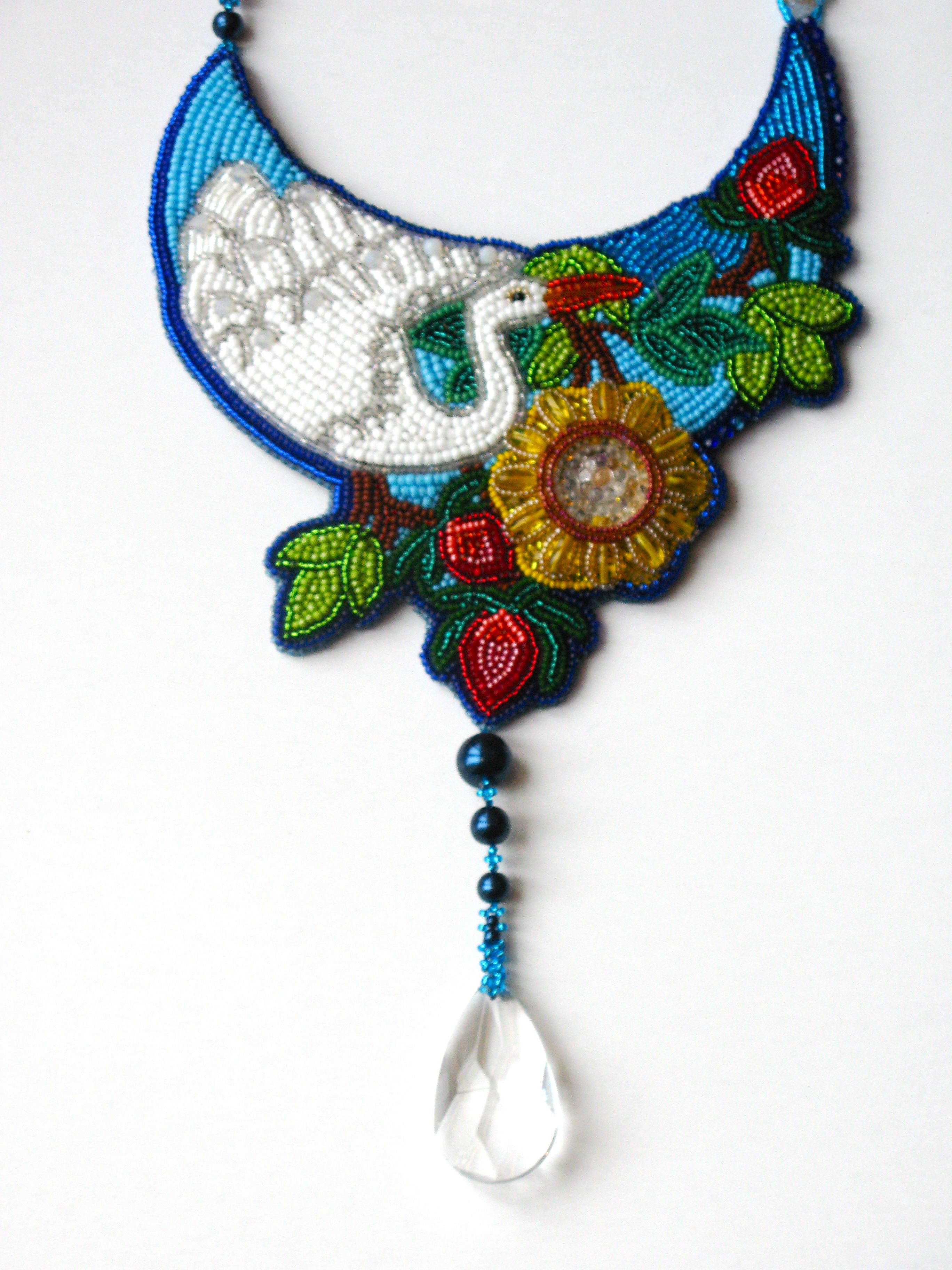 Embroidered jewelry bead embroidery pinterest