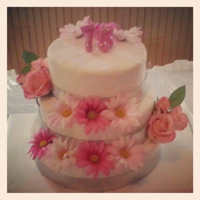 75th Birthday Cake Party Ideas Pinterest