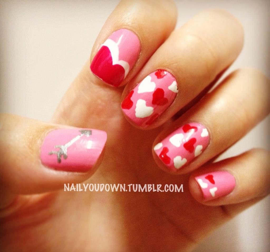 pinterest valentine nails