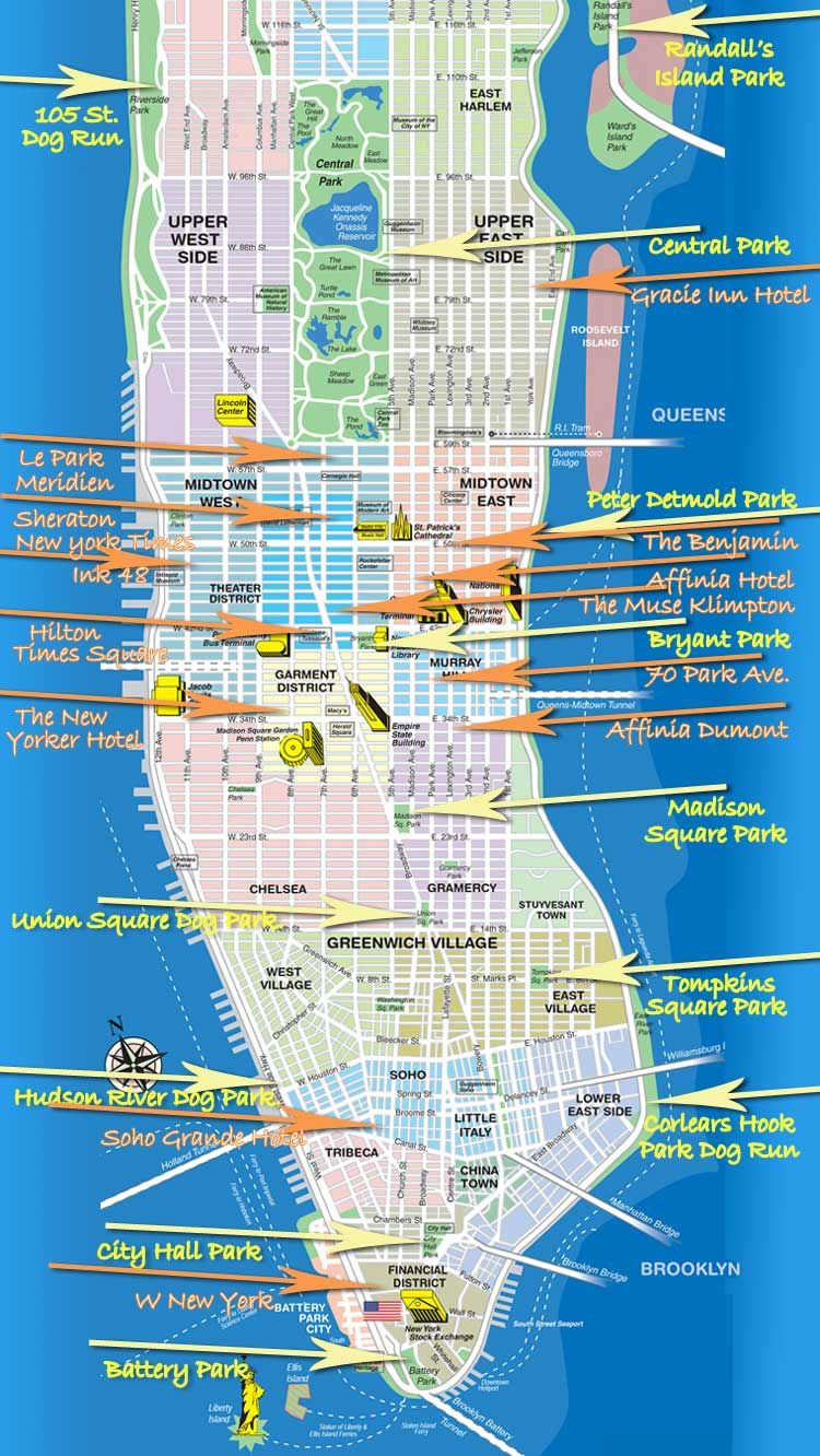 New York City Hotel Map 2018 Worlds Best Hotels