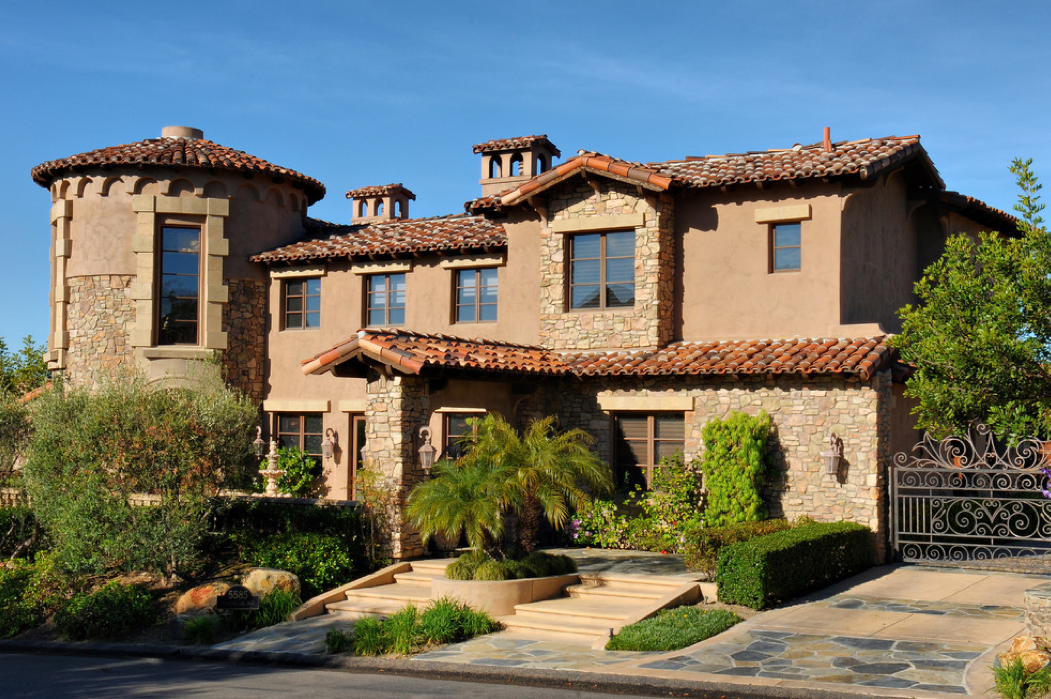 Pin by jared wilson on mediterranean tuscan homes exterior edition - Tuscan home exterior ...