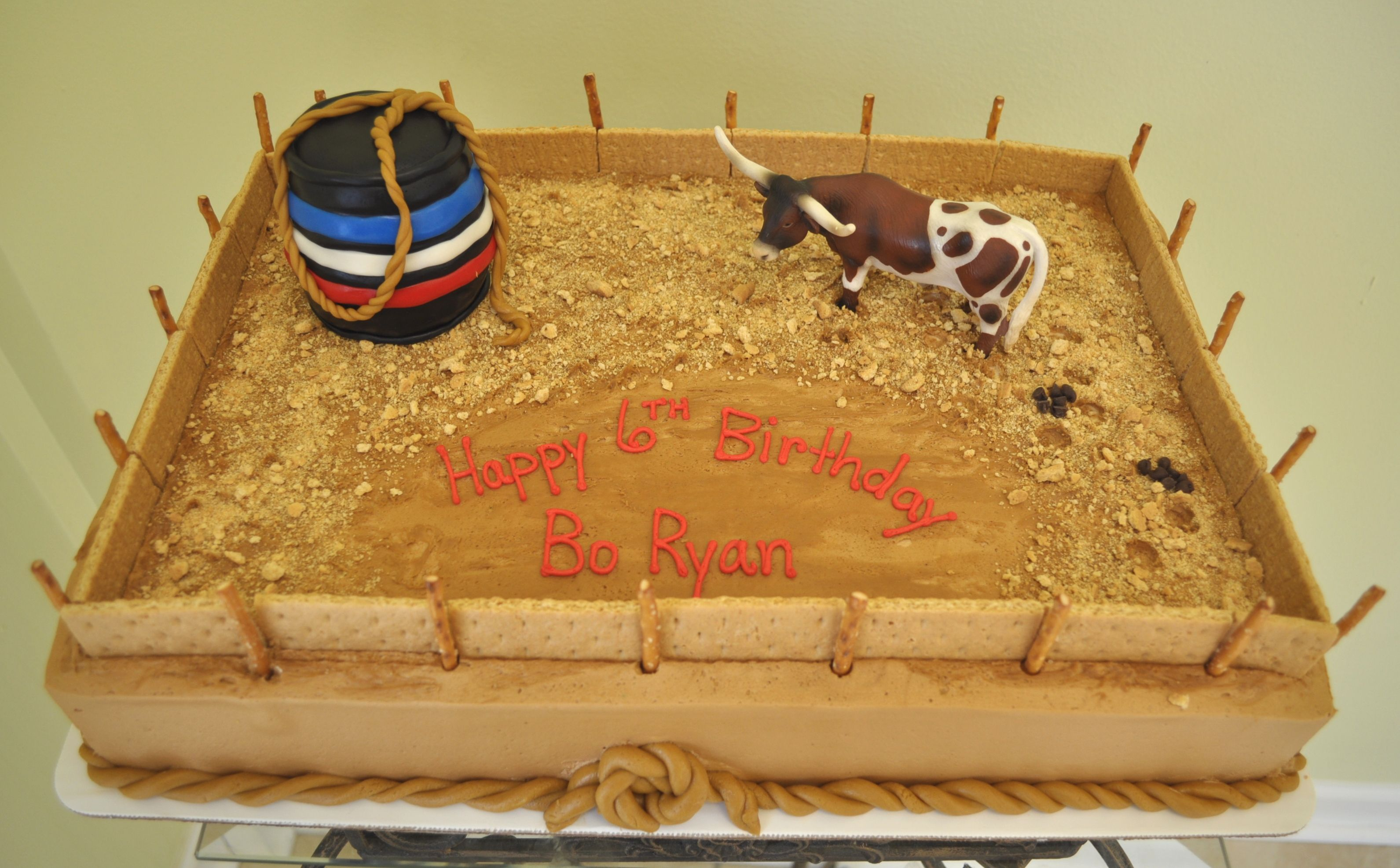 Bull Riding Cowboy Cake Rose Bakesok so this is my next project