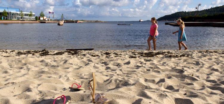 Playa de Kristiansand viaje Noruega
