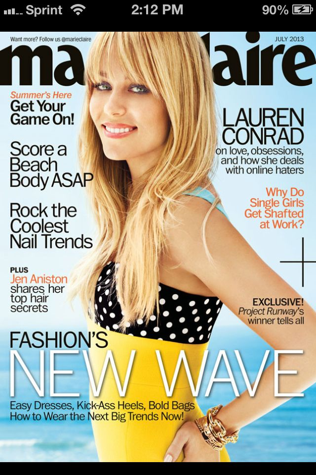 Lauren Conrad's Marie Claire Cover Shoot is Making Us WantBangs