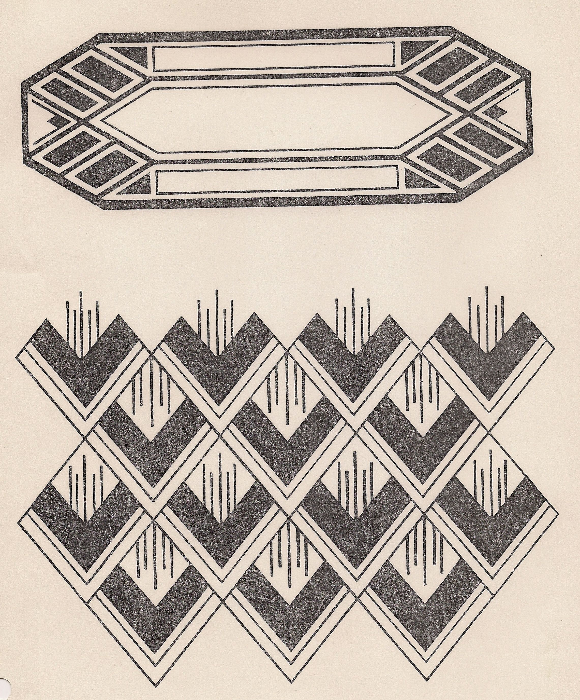Art deco design design motifs patterns pinterest for Art deco patterns
