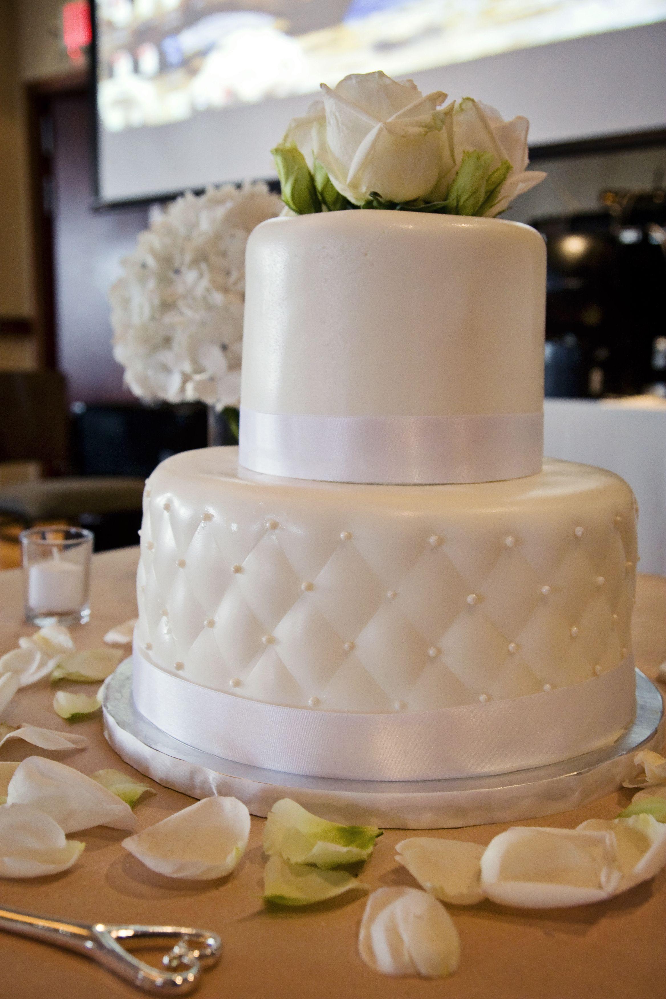 small white simple wedding cake Wedding Hair Dos