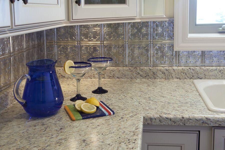 faux tin backsplash kitchen remodel pinterest