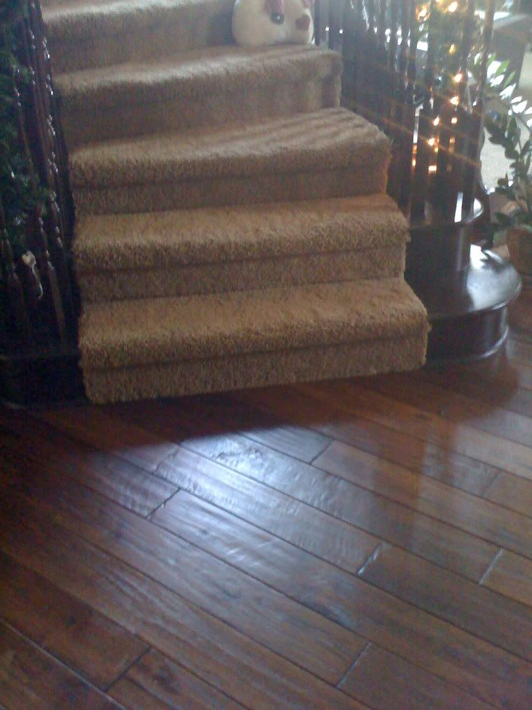 Pin by darlene wutz on some day pinterest for Hardwood floors on stairs